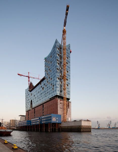 Portuguese photographerJosé Campos has sent us these photos ofHerzog & de Meuron's Elbphilharmonie concert hall, which is currently under construction in Hamburg and due for completion in 2013.