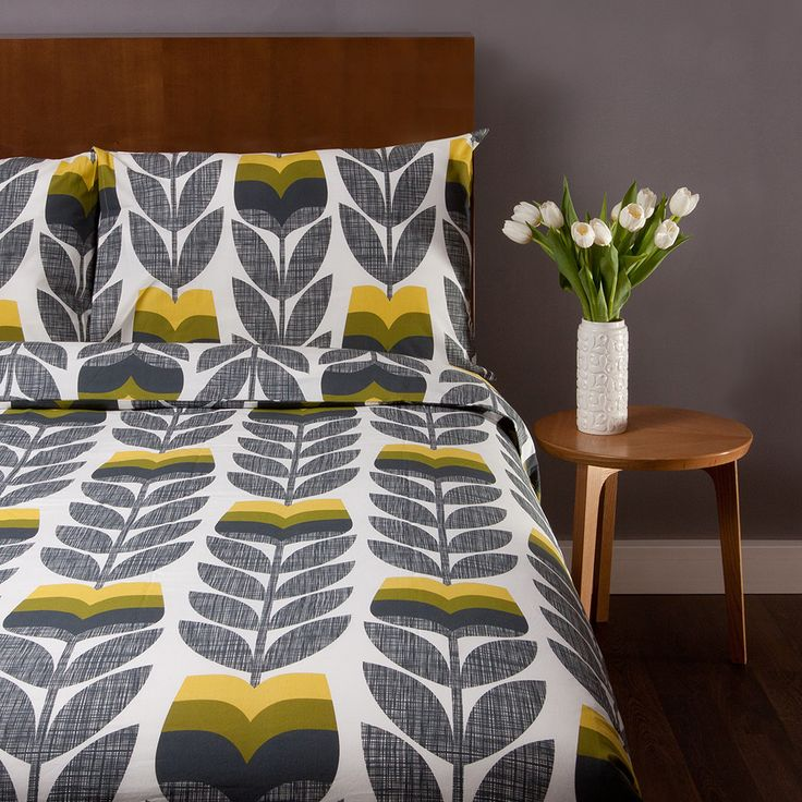 Scribble Rosebud Corn Yellow Bed Linen