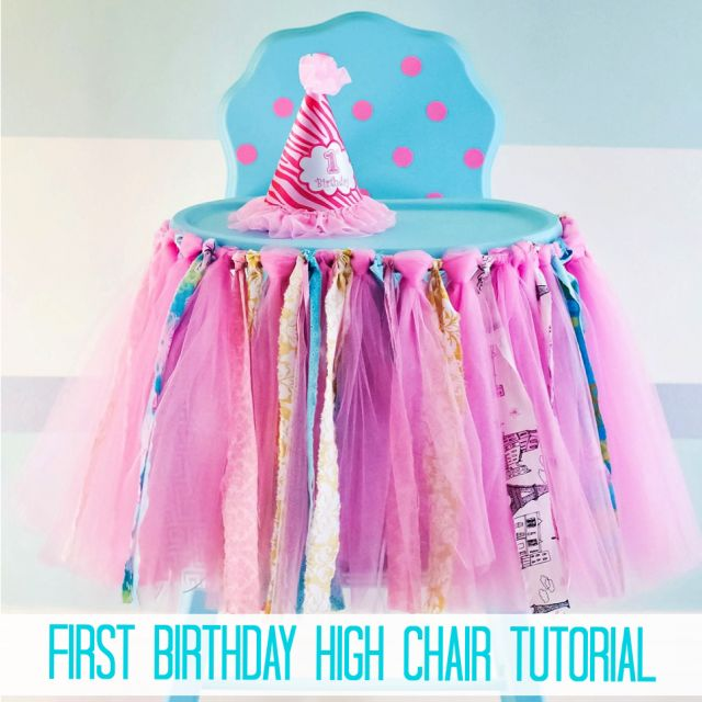Ribbon banner for high chair