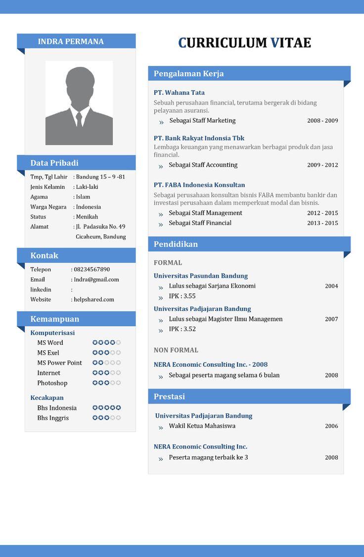 contoh cv dan portofolio