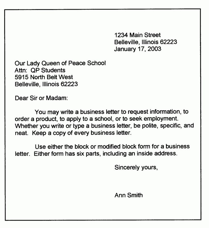 The terrific Personal Business Letter Format Sample