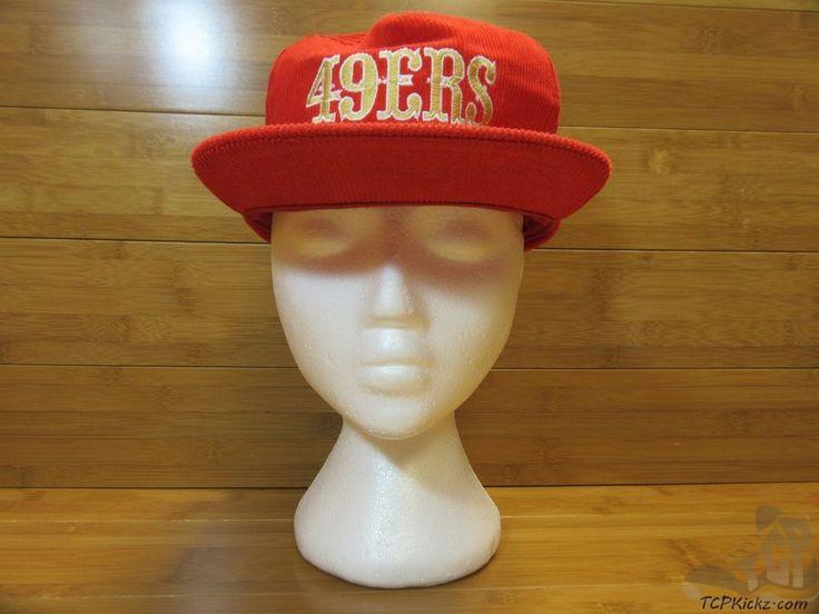 Vtg 80s 90s NFL San Francisco 49 ers Corduroy Snap Back Hat Adult One Size #NFLStarline #SanFrancisco49ers