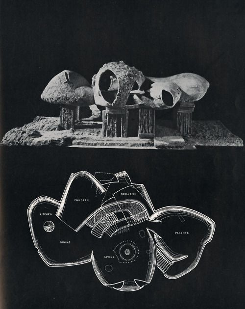Frederick Kiesler, The Endless House, 1960