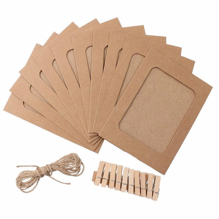 10 Set Paper Photo DIY Wall Picture Hanging Frame Album Rope Clip. 10Pcs hanging wall kraft paper photo frame with rope and clips. Set Home Decor. 10 x Paper Photo Frame. Perfect for card making ,some creative activities,wedding tables and art project embellishments. | eBay!