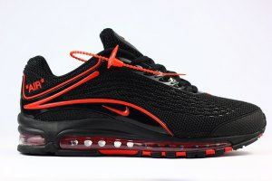 79ad35f45f Mens Nike Air Max Deluxe OG 1999 Kpu Black Red Shoes Sportswear ...