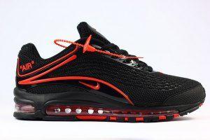 e327b9199e6 Mens Nike Air Max Deluxe OG 1999 Kpu Black Red Shoes Sportswear ...