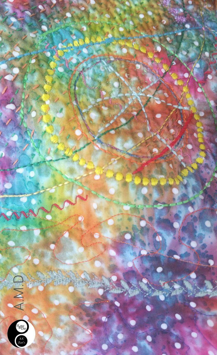 A.M.D Patchwork Détail • En espace Déco AA'Zart's  #décoration #patchwork
