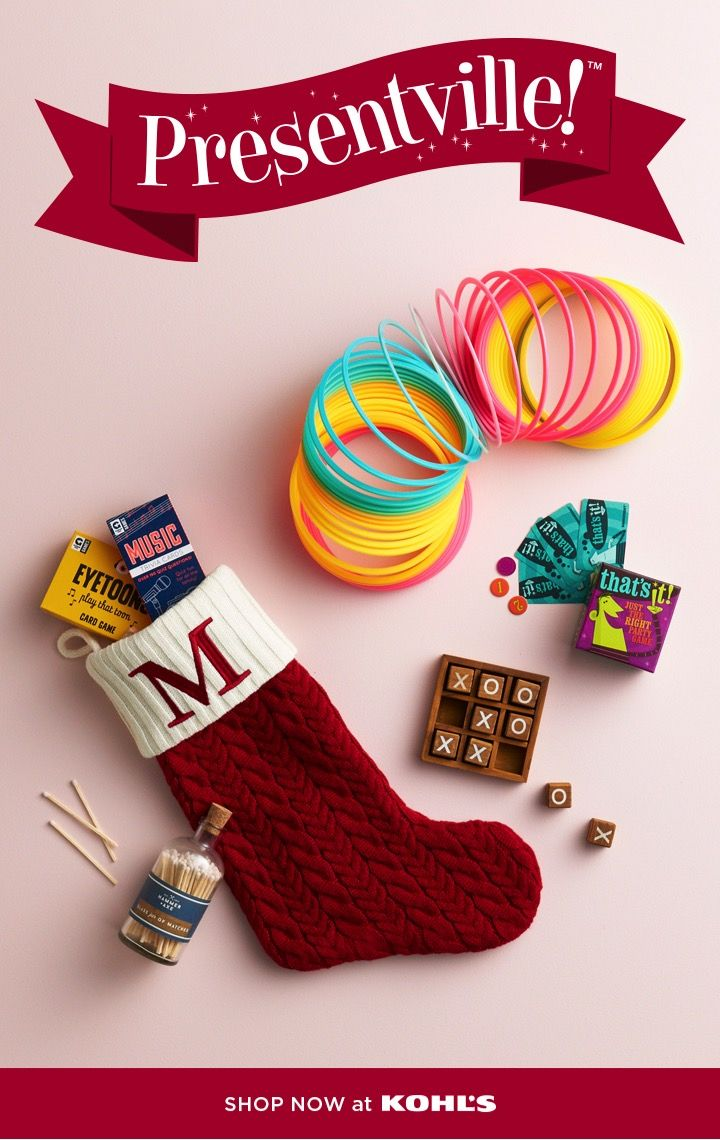 Stop By Presentville At Kohls For All The Best Stocking Stuffers From Classic Favorites Like