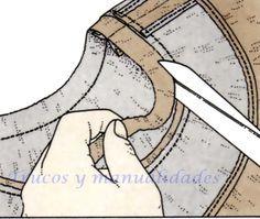 Todos los escotes, independientemente de su forma, deben rematarse, bien mediante la aplicación de un cuello, o bien añadiendo una tirilla de tela a tono