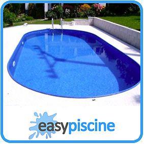 Kit piscine acier a enterrer 8 x 4 x ht 1 50 m ovale for Kit piscine a enterrer