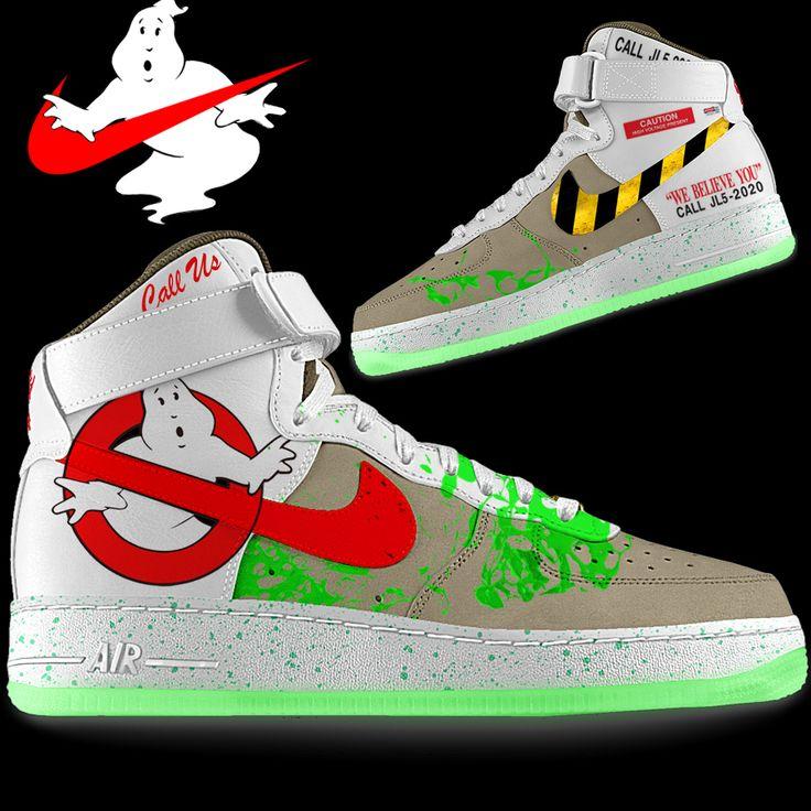 Design idea for custom Ghostbusters Nike Kicks