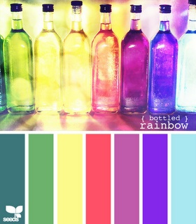 (bottled) rainbow: Favorite Colors, Color Combos, Color Charts, Awesome Color, Rainbow Colors, Color Palette, Colored Glass