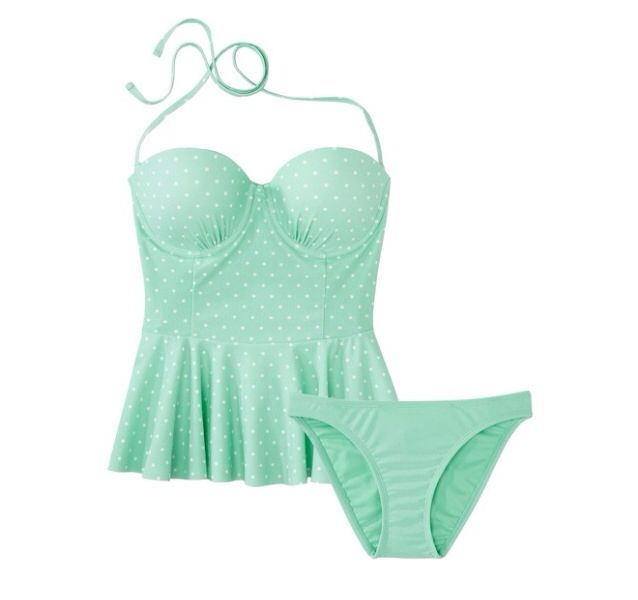 Beautiful Tankini! Idk about the whole underwire thing tho