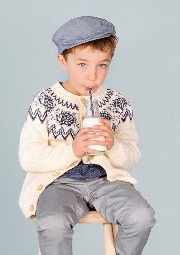 Pelle Pinnsvin Jakke, pattern by Sandnes garn #knit #kids