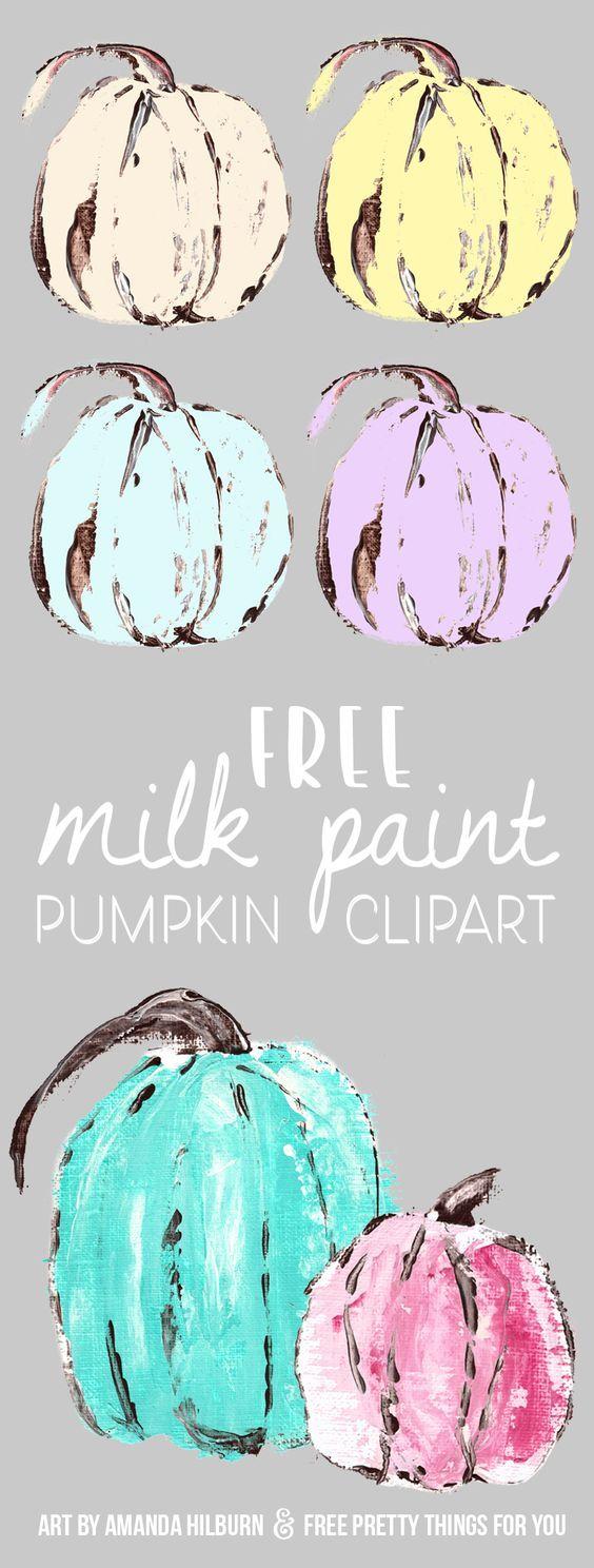 Free Farmhouse Milk Paint Pumpkin Images