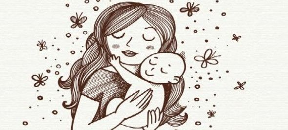 موضوع تعبير عن الام وفضلها Female Sketch Art Humanoid Sketch