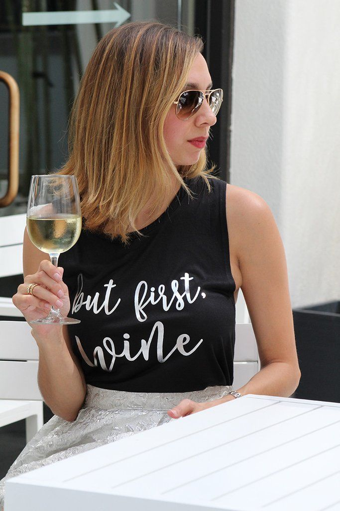 But First, Wine Muscle Tank