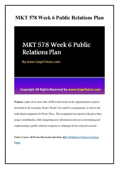 Correct answers are just a click away. Get instant help and 100% correct answers to MKT 578 Week 6 Public Relations Plan New Assignments 24x7 from learned professionals in statistics and other relevant fields.