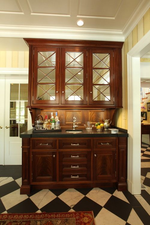 Premade wet bars with sinks cool wet bar cabinets for for Built in dining room cabinet designs