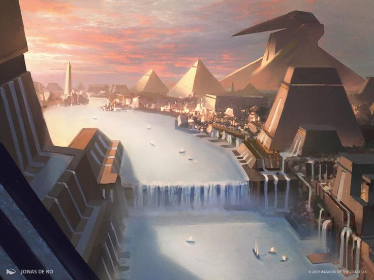 Island 3 - Amonkhet MtG Art | Dreams of Egypt | Mtg art ...