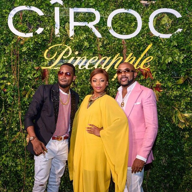 Before the whole Craziness started lol.... Red carpet things @bonang_m @bankywellington @cirocnigeria @joeciroc