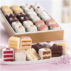 Assorted petit fours by the Swiss Colony.