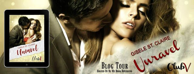 BLOG TOUR  Gisele St. Claire Unravel   Title:Unravel  Author:Gisele St. Claire  Mr. Vance  My eyes raked over her. The temporary bartender brought into my office because shed seen the virgin auction room. I took in her  delicious curves and knew I needed to have her. Except I would never see her again after tonight. But I always get what I want  I'm the owner of Club V and I will unravel her in ways she's never experienced. I can barely wait to touch and lick every curve of her virgin body…