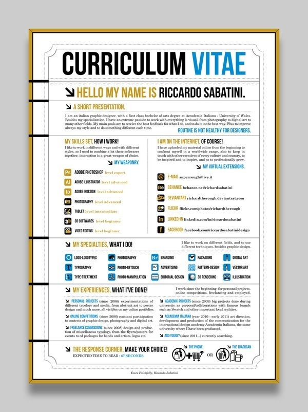 97 best images about creative cv on pinterest