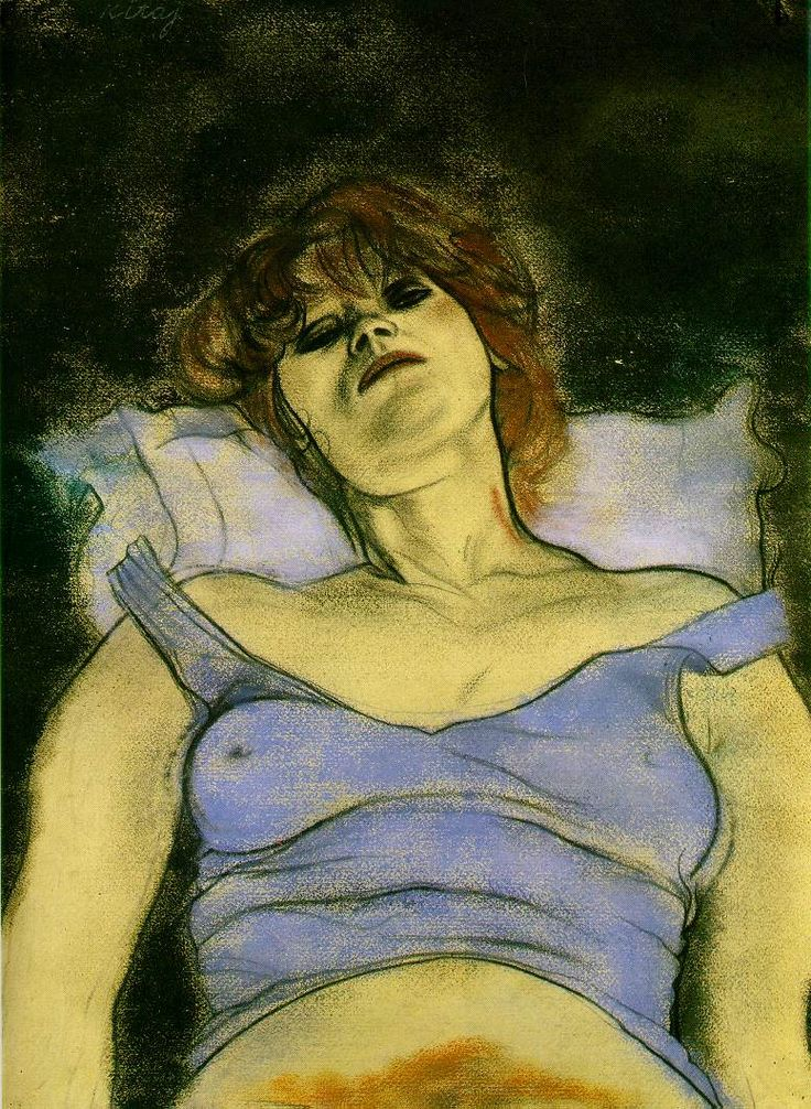 R B Kitaj -  Mary Ann  1980 (210 Kb); Pastel and charcoal on paper, 77.5 x 56 cm (30 1/2 x 22 in); Private collection, London