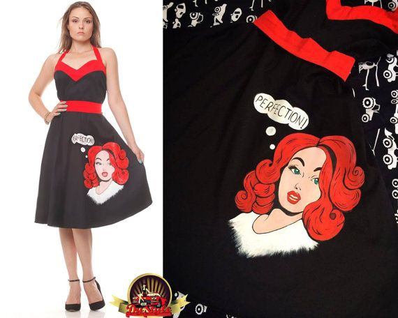 Hand painted black and red corset dress Black and red