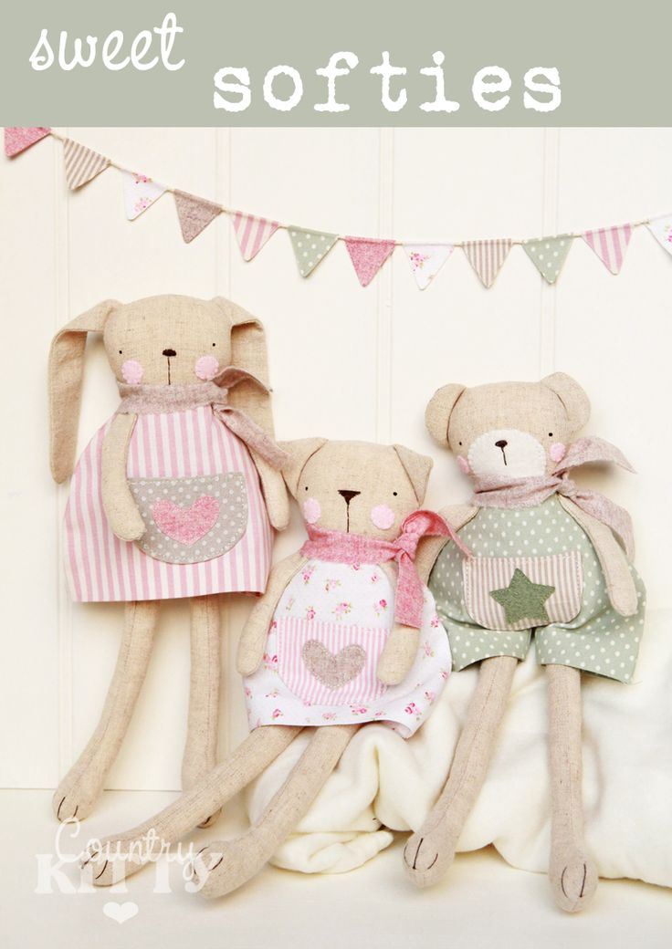 Countrykitty: Sweet softies (the pattern!)