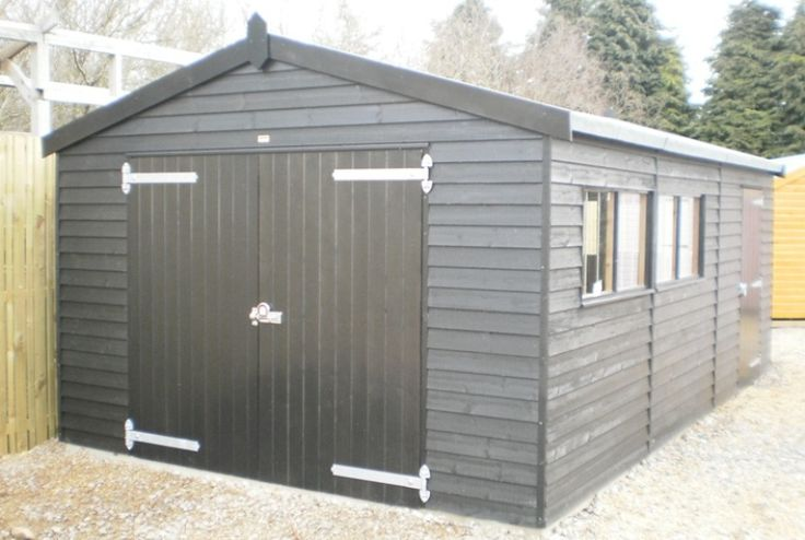 3.6 x 6.0m GarageBlack Sikkens Paint System, Weatherboard Cladding, Opening Window and Personal Door