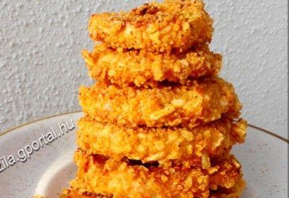 Sütőben sült ropogós hagymakarikák recept képpel. Hozzávalók és az elkészítés részletes leírása. A sütőben sült ropogós hagymakarikák elkészítési ideje: 26 perc