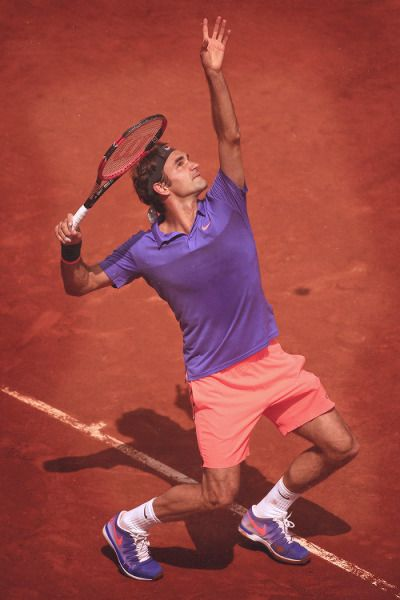 Roger Federer at French Open 2015. #Federer #FrennchOpen