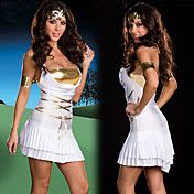 Griekse Godin Witte en Gouden Fancy Dress Wom... – EUR € 16.49
