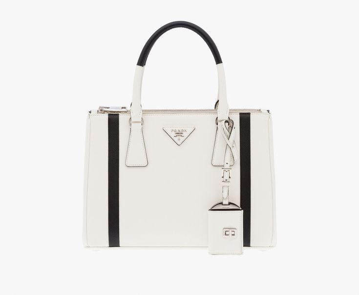 replica chanel woc - Prada Woman - Prada galleria bag - White + black ...