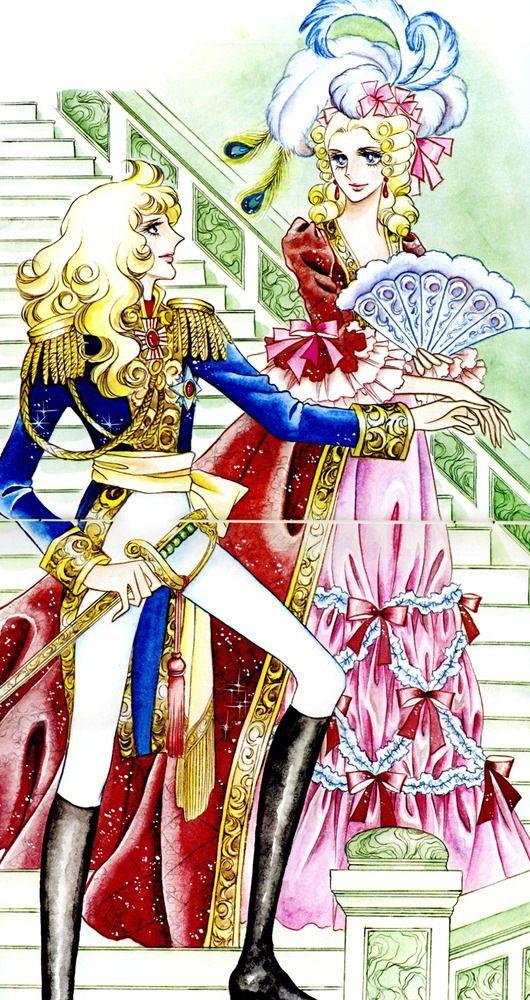 la Rose de Versailles. Oscar Francois de Jarjayes, Marie Antoinette