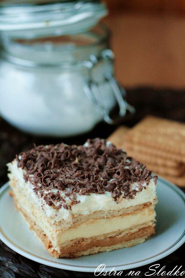 3 bit , ciasto bez pieczenia , ciasto z karmelem , ciasto z krakersami , ciasto z kremem budyniowym , ciasto warstwowe , ostra na slodko , pyszne ciasta , tanie ciasta , super blog kulinarny
