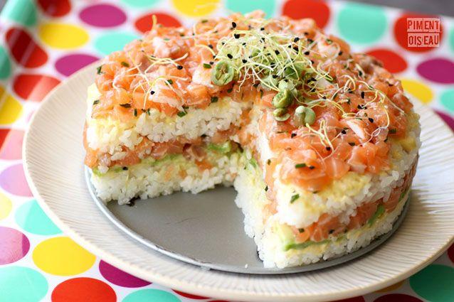 Celebration Sushi Cake