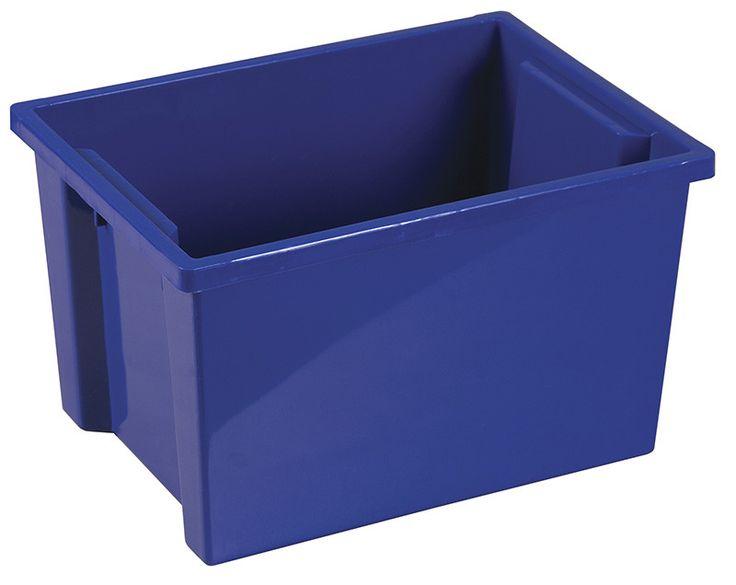 ecr4kids elr0722bl large storage bin without lid blue set of