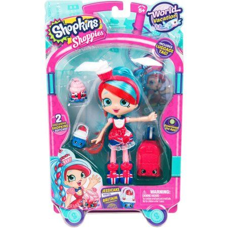 Shopkins Shoppies World Vacation Themed Dolls Europe, Jessicake, Assorted