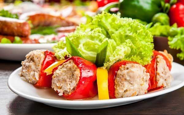 Фаршированный перец с мясом и рисом: рецепты с фото