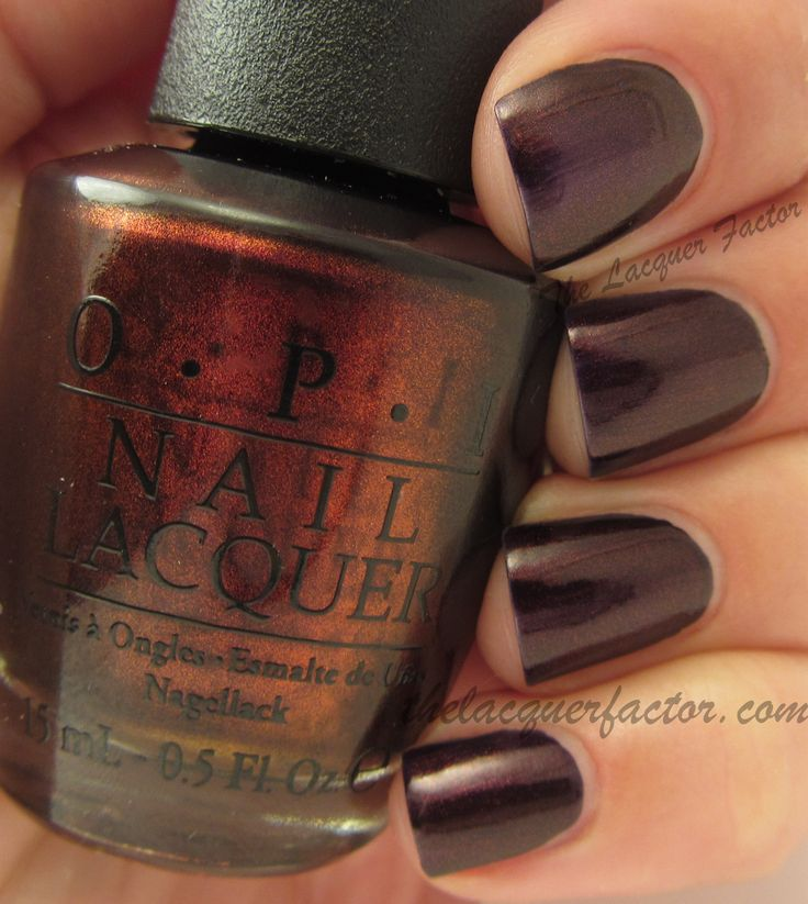OPI Oktoberfest. Pretty for this fall!