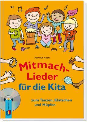 Mitmach-Lieder für die Kita zum Tanzen, Klatschen und Hüpfen ++ Die lustigen und modernen Lieder zu vielfältigen Themen regen die Fantasie der Kinder an und machen jede Menge Spaß! Durch die bunte Mischung an Mitmach-Ideen werden ganz nebenbei Grob- und #Feinmotorik, #Konzentrationsfähigkeit, #Rhythmusgefühl, #Sprache und genaues #Zuhören gefördert. Inkl. Buch mit Noten, Texten, Förderhinweisen und Ideen für die Umsetzung. #Kita #Kindergarten