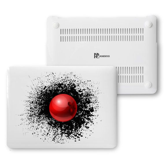 """Splash Bowling For MacBook Air 13"""", Bowling Fan MacBook 15"""",Bowling Players Matte White Plastic Hard cover,Love Bowling MacBook White Cover"""