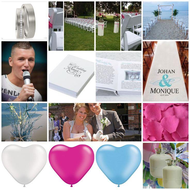 ceremonie:  ballonnen wit: 19,90 ballonnen blauw: 19,90 ballonnen roze: 40,00 7 duiven: 81,00 zanger lex: 300,00 (3 liedjes) klapstoelen, bloempotten &prieeltje: 400,00 rozenblaadjes 9,98 trouwloper:99,95 ringen: 500,00 ringendoos: 24,95 helium x2: 258.98 totaal: 1754,66