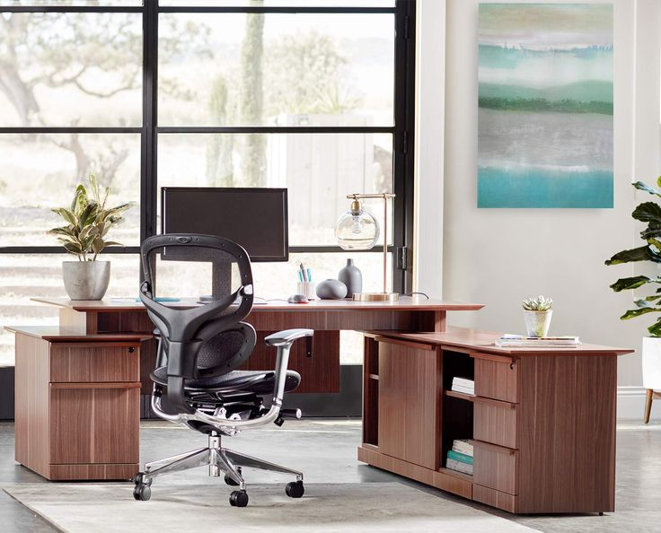 Scandinavian Designs - Establish a dynamic presence in your office with the Avoz executive desk set with reversible return. Features a large workspace and a reversible return to ensure the best fit in any room. Return section provides three smooth-glide drawers, two cabinets and a small and large cubby space.