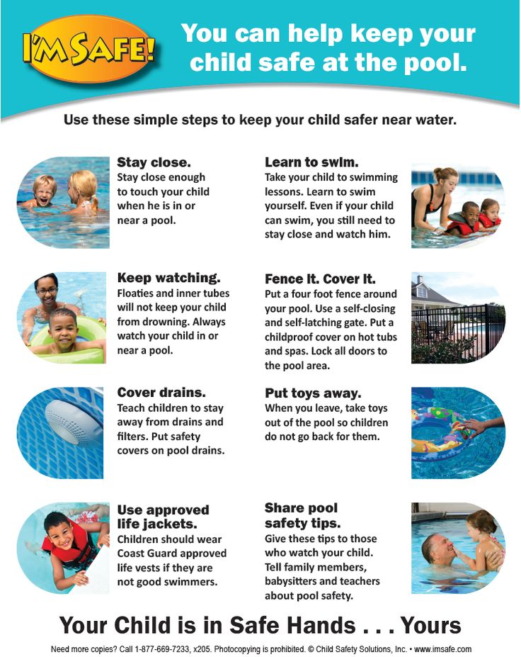 7 3180 Pool Safety Parent Tip Sheet Pool Care Water