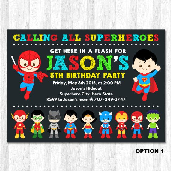 The 25 best Superhero invitations ideas on Pinterest Super hero