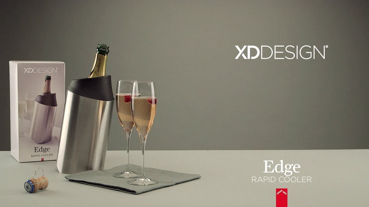 The XD Design Edge rapid cooler quickly chills your wine or champagne with the removable rapid cooling sleeve.
